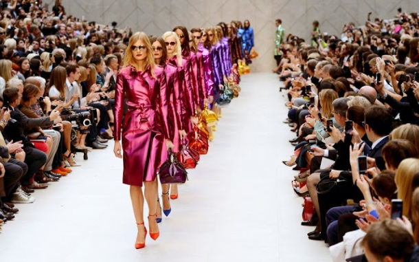 Burberry Spring 2013 foil raincoats 4