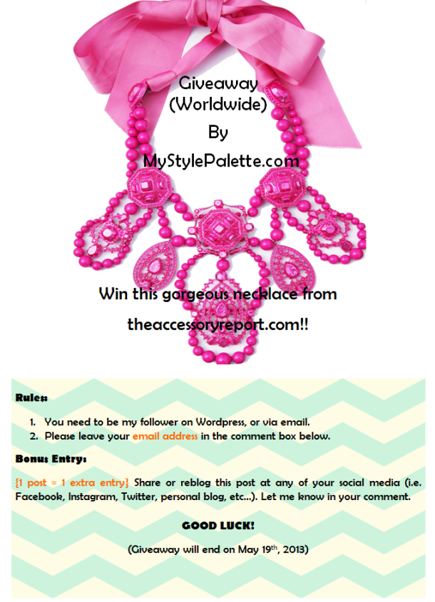 GIveaway the L necklace
